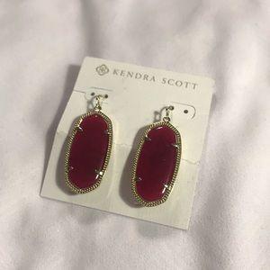 Red Kendra Scott Earrings